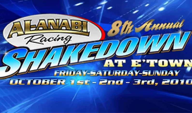 Al-Anabi Racing 8th Annual Shakedown at Etown Oct 1-3