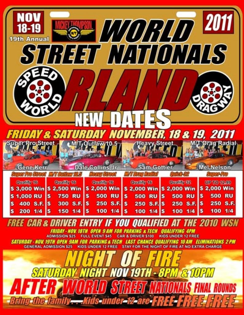Nov 18-19 Speed World's Street Nationals