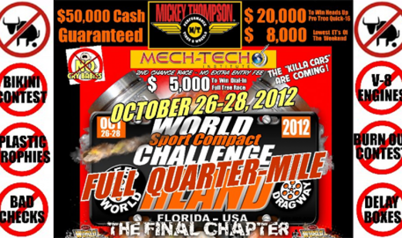 Oct 26-28 2nd WORLD SPORT COMPACT CHALLENGE