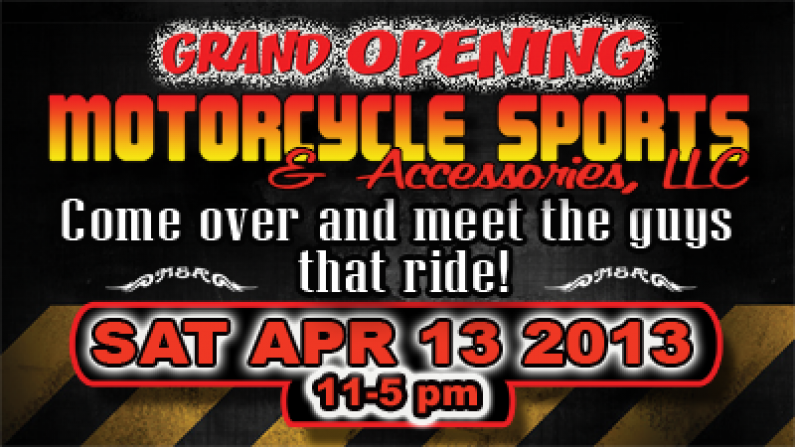 Radio RPM 04/13/13 @ Motorcycle Sports & Accessories