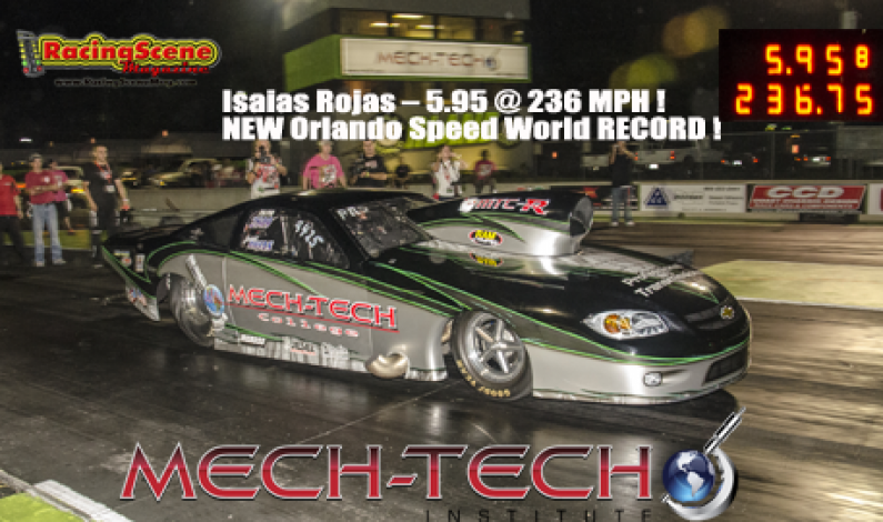 Isaias Rojas 5.95 @ 236 MPH ! NEW Orlando Speed World RECORD !