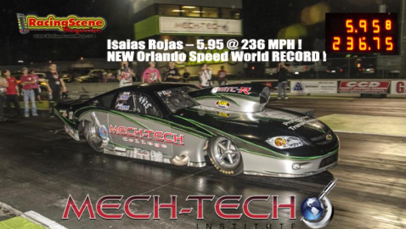 Isaias Rojas 5.95 @ 236 MPH ! NEW Orlando Speed World RECORD !