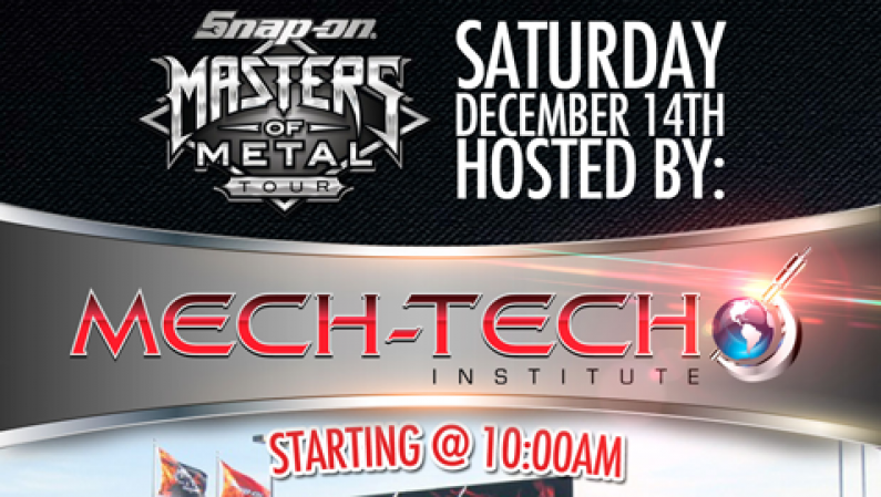 Mech-Tech Institute Open House & Snap-on Masters of Metal Tour Live @ RadioRpm 12/14/13