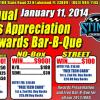 1st Ann. Racer's Appreciation 2014 Awards Bar-B-Q 1/11/14