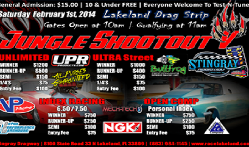 Jungle Shootout @ Lakeland Feb 1st, 2014
