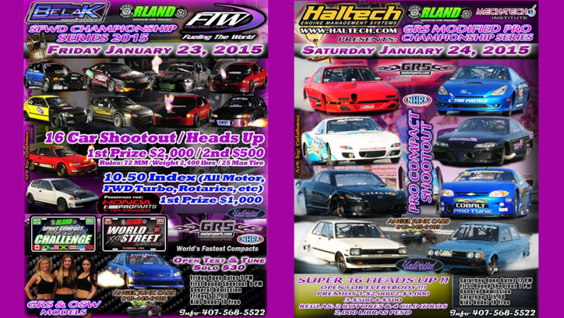 Racing Weekend @ Orlando Speed World Jan 23-24, 2015