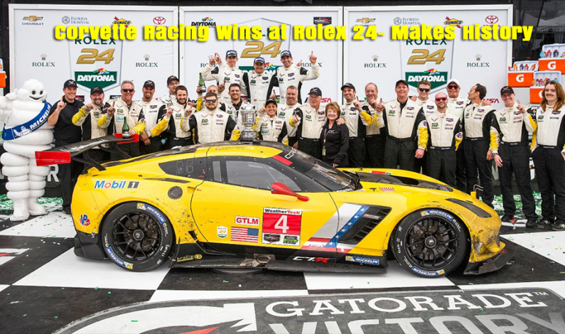 Scott Sharp's ESM team Corvette Racing Takes Historic 1-2 at Rolex 24