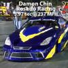 Damon Chin of Rosado Racing  5.97 sec @ 237 MPH @ MIR