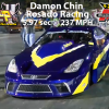 Damon Chin of Rosado Racing  5.97 sec @ 237 MPH @ MIR