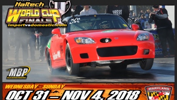23rd annual Haltech World Cup Finals – Import vs. Domestic,October 31 – November 4, 2018.