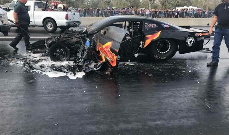 Zoian Racing IMPORT WORLD RECORD holder 5.660 @ 255.34 MPH damaged by fire